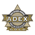 ADEX Gold 2003 Award for Design Excellence logo