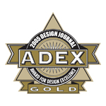 ADEX Gold 2005 Award for Design Excellence logo