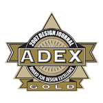 ADEX Gold 2007 Award for Design Excellence logo