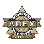 ADEX Gold 2012 Award for Design Excellence logo