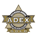 ADEX Gold 2014 Award for Design Excellence logo