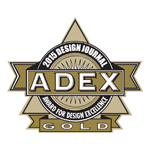 ADEX Gold 2015 Award for Design Excellence logo