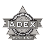 ADEX Platinum 2008 Award for Design Excellence logo