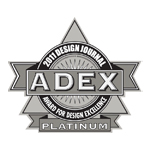 ADEX Platinum 2011 Award for Design Excellence logo
