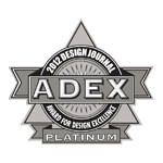 ADEX Platinum 2012 Award for Design Excellence logo