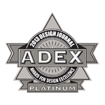 ADEX Platinum 2013 Award for Design Excellence logo