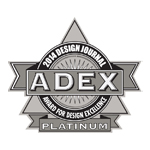 ADEX Platinum 2014 Award for Design Excellence logo