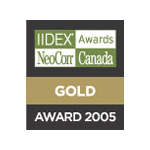 IIDEX® NeoCon® Canada Gold Award 2005 logo