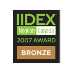 IIDEX® NeoCon® Canada Bronze Award 2007 logo