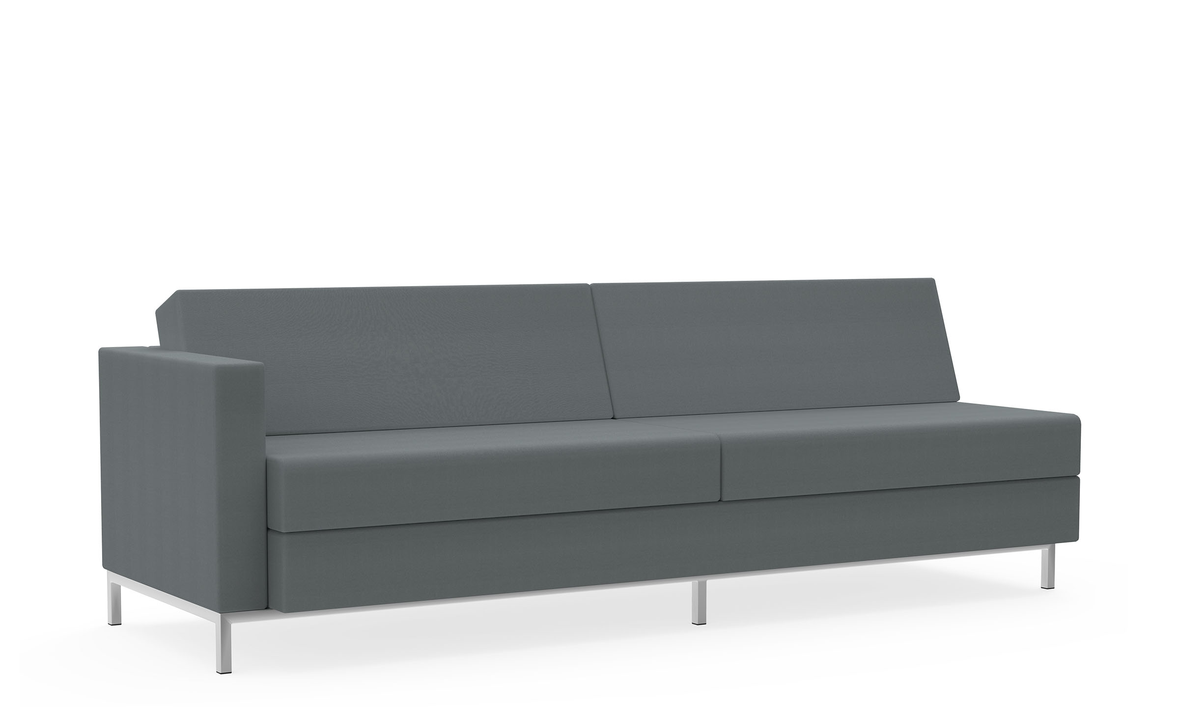 Four-Seat Sofa, Duo Cushions, Right Arm Model Thumbnail