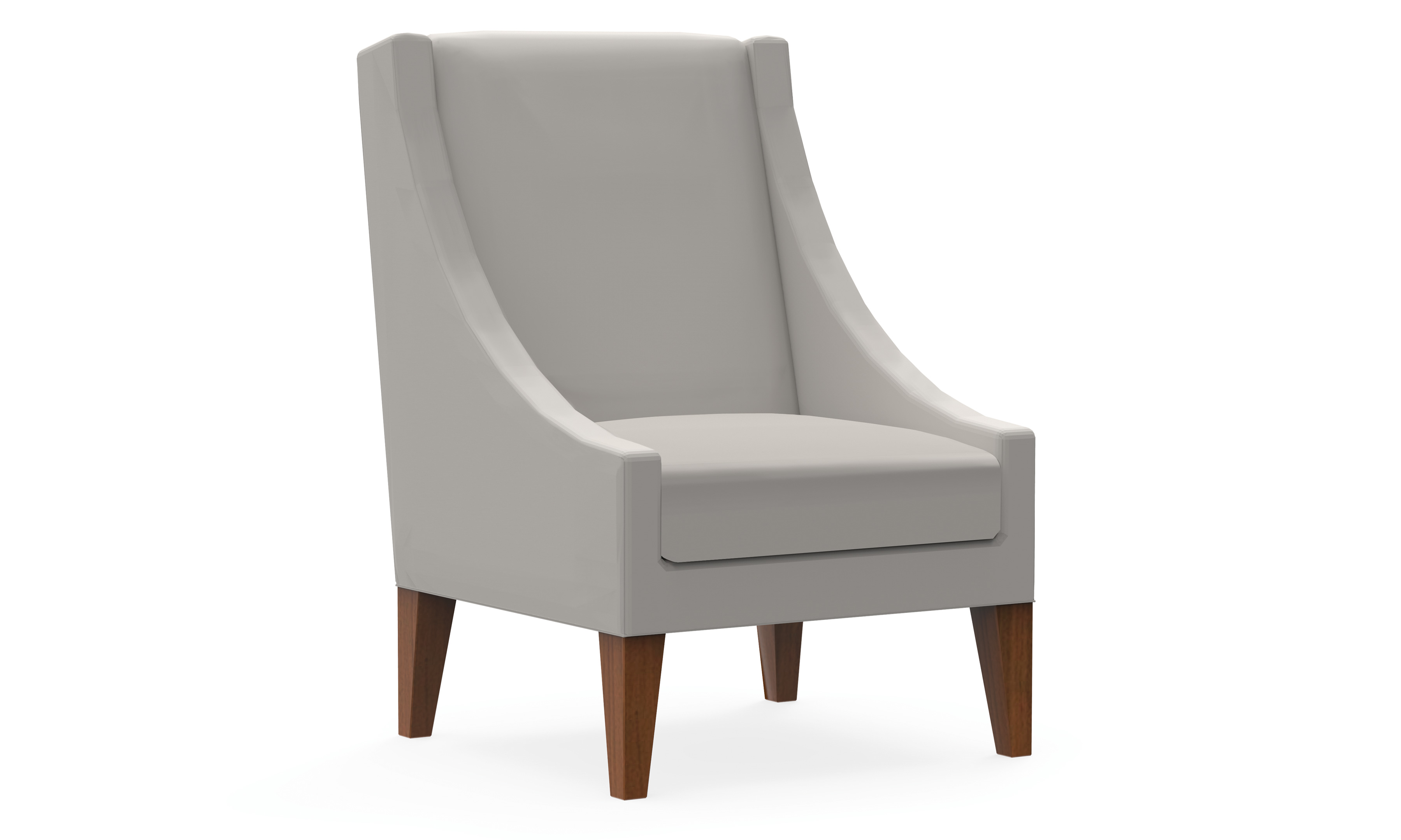 High Back Lounge Chair Model Thumbnail