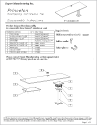 Dessus de table chevauchant Princeton Sheet Cover