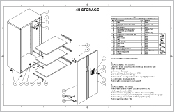 4 High Storage Sheet Cover