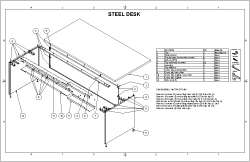 Steel Desk Sheet Cover