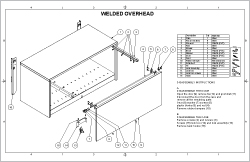 Welded Overhead Sheet Cover