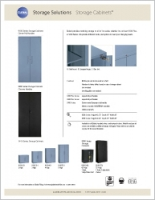 Storage Cabinets Sell Sheet Brochure Cover