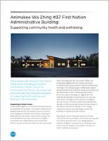 Animakee Wa Zhing #37 First Nation Administrative Building Brochure Cover