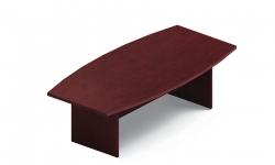 8' Boat Shaped Table with Built-Up Self Edge, Slab Base Model Thumbnail