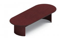 10' Racetrack Table with Bullnose Edge, Arched Base Model Thumbnail
