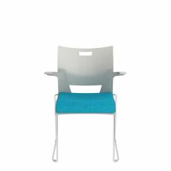 Armchair, Upholstered Seat & Polypropylene Back Model Thumbnail