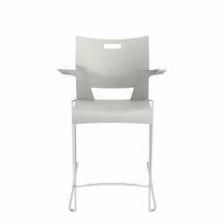 Counter Height Stool with Arms, Polypropylene Seat & Back Model Thumbnail