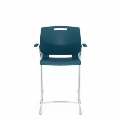 Counter Stool with Arms, Polypropylene Seat & Back Model Thumbnail