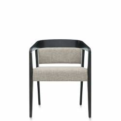 Upholstered Round Back Armchair, Upholstered Waterfall Front Seat Model Thumbnail