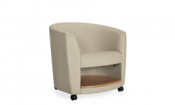 Lounge Chair with Book Shelf, Casters Model Thumbnail