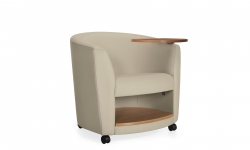 Lounge Chair with Left Tablet & Book Shelf, Casters Model Thumbnail