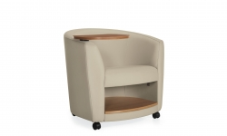 Lounge Chair with Right Tablet & Book Shelf, Casters Model Thumbnail