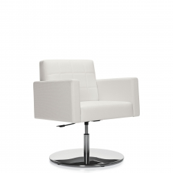 Self-Centering Lounge Chair, Pedestal Base Model Thumbnail