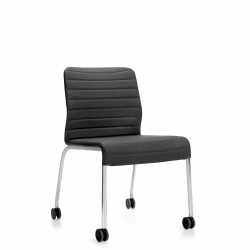 Armless Upholstered Chair, Casters Model Thumbnail