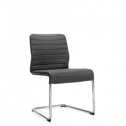 Armless Upholstered Chair, Cantilever Frame Model Thumbnail