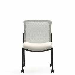 Armless Mesh Low Back Side Chair, Casters Model Thumbnail