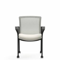 Mesh Low Back Armchair, Casters Model Thumbnail