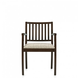 Armchair, Vertical Wood Slat Back Model Thumbnail