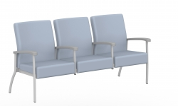 Low Back Three Seater, Centre Arms Model Thumbnail