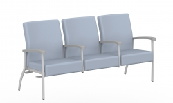 Low Back Three Seater, Centre Arms, Right Link Model Thumbnail