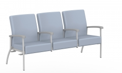 Low Back Three Seater, Centre Arms, Right & Left Links Model Thumbnail