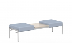 Two Seat Bench, Centre Table Top, Right & Left Links Model Thumbnail