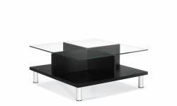 Square Coffee Table with Glass Top