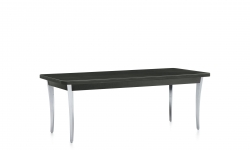 Coffee Table, Polished Aluminum Legs, High Pressure Laminate Top Model Thumbnail