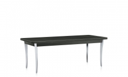 Coffee Table, Polished Aluminum Legs, Thermally Fused Laminate Top Model Thumbnail