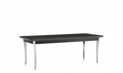 Coffee Table, Polished Aluminum Legs, Wood Top Model Thumbnail
