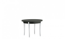 End Table, Polished Aluminum Legs, High Pressure Laminate Top Model Thumbnail