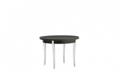 End Table, Polished Aluminum Legs, Thermally Fused Laminate Top Model Thumbnail