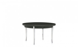 End Table, Polished Aluminum Legs, Wood Top Model Thumbnail