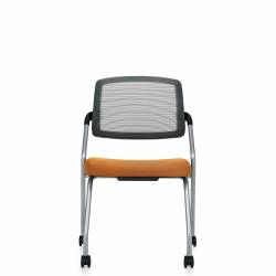 Armless Flip Seat Nesting Chair, Casters Model Thumbnail