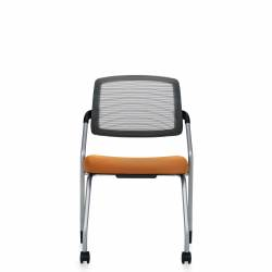 Armless Flip Seat Nesting Chair, Front Casters Model Thumbnail