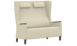 Two Seater Wingback Armchair, Headrest Model Thumbnail